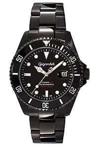 Gigandet SEA GROUND - montre sport plongée 300m automatique - homme/femme - cadran noir - avec indication de date et bracelet en acier inoxydable - G2-003