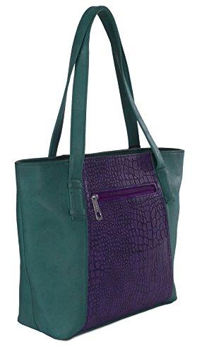 Big Handbag Shop , Damen Henkeltasche Einheitsgröße z** Seconds - Black