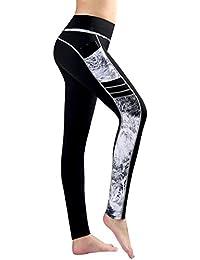 New Mincc Pantalon de Sport Leggings Basique pour Femme Imprimé Motif Long  avec Poche Yoga Fitness 610c9e98da2