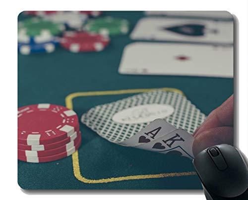 Beste Geschenkidee Mauspad, Pokerkarte Gummi Mousepad Genähte Kanten