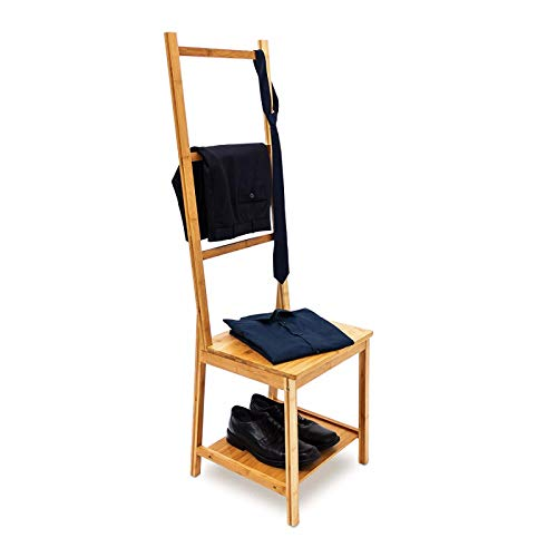 Generic * Clothe Regale Holz oo Kleiderstuhl 2 Bambus Cl Bambus Kleidung Valet Lves Wo Rails Feuchtigkeitsbeständiger Stand 3 reresistent -