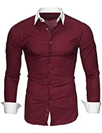 Kayhan Hombre Camisa Manga Larga Slim Fit S M L XL 2XL - Modello Mailand