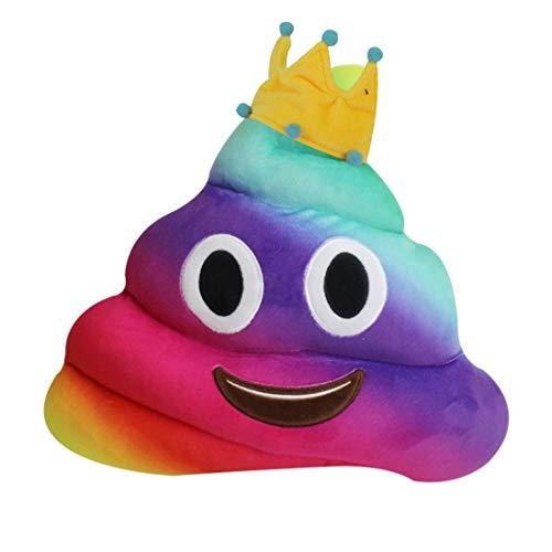 Ode_joy nuovo divertente emoji emoticon cuscino cuore occhi poo forma cuscino bambola giocattolo regalo-emoticon guanciali rotondi gialli, spessi, morbidi e soffici – perfetti per decorare letto