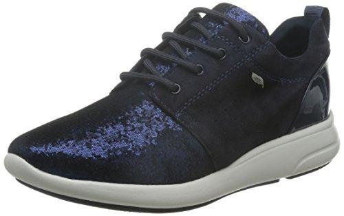 Geox ophira a, scarpe da ginnastica basse donna, blau (dk navy/blackc4367), 39 eu