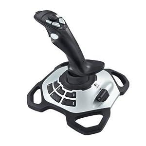 Logitech G Extreme 3D Pro Joystick, Drehknopf Rudersteuerung, 12 Programmierbare Tasten, 8-Wege Rundblickschalter, Stabiler Sockel, Schnellfeuerauslöser, USB-Anschluss, PC – schwarz/silber