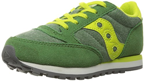 SAUCONY JAZZ KIDS GREEN YELLOW SC55552 SNEAKER LACCIO