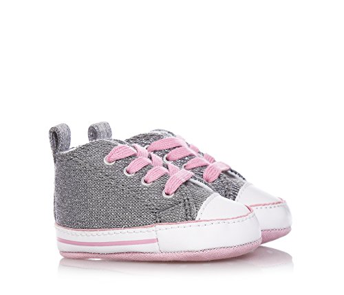 Converse Chuck Taylor All Star First Hi baby , canvas, sneaker high Argento-Rosa