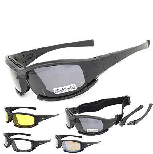 Daesar Schießbrille Sportschützen Motorrad Brille Nacht Schwarz Schutzbrille Schießsport