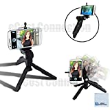 """Adjustable Tabletop Camera/Smartphone Tripod/Steady-Shot Hand Grip, 6.5""""inches + Universal Tripod Smartphone Mount For Most Smartphones With ECostConnection Cloth"""