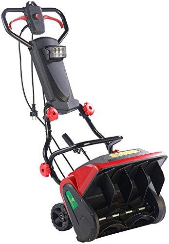 elektro kehrmaschine AGT Elektro Schneeschaufel: Elektrische Schneefräse mit LED-Beleuchtung SB-213.e, 1.300 W (Schnee-Kehrmaschine)