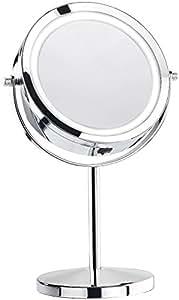 sichler beauty spiegel mit licht stand kosmetikspiegel mit 18 led 3 fache vergr erung. Black Bedroom Furniture Sets. Home Design Ideas