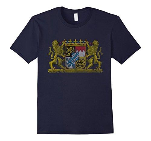 mens-vintage-bavaria-coat-of-arms-germany-t-shirt-medium-navy
