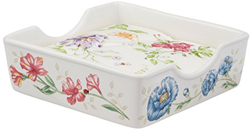 Lenox Butterfly Meadow feine Porzellan Salz- und Pfefferstreuer Taschentuch-Box weiß Butterfly Meadow Serviette