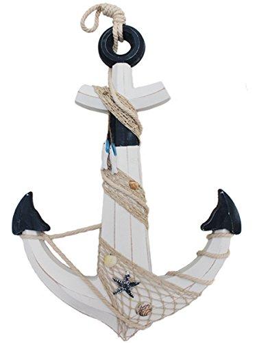 XL Deko Anker aus Holz Antiklook Maritime Deko