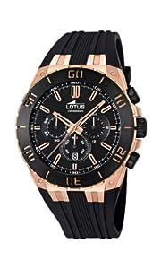 Reloj Lotus 15804/1 de cuarzo para hombre con correa de caucho, color negro de Lotus