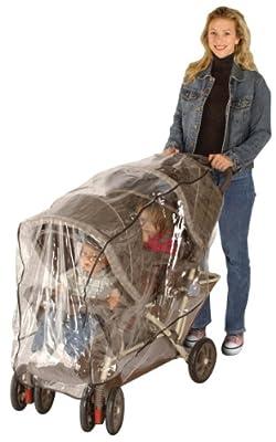 Buki 90112 - Protector de lluvia para cochecito de gemelos