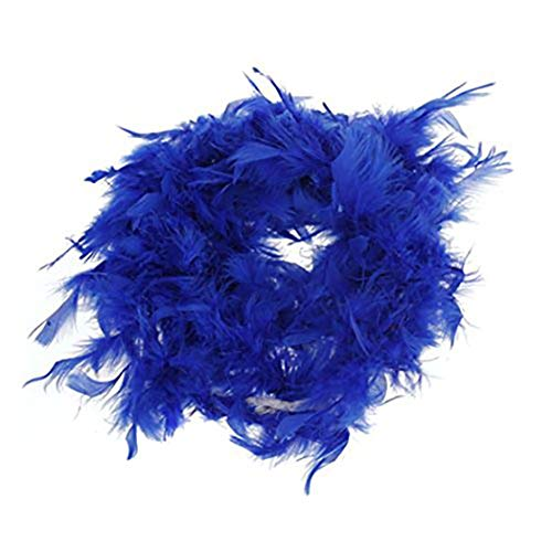 Morning May Boa de Felpa para decoración Artesanal, 6.6 pies de Largo, Azul Real