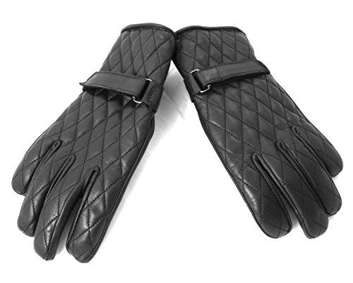 Zerimar Leder Motorrad Handschuhe  100% natürlich Leder   Widerstandsfähig Bequem Flexibel  lederhandschuhe Handschuhe für moto atmungsaktiv  Maßnahmen: L