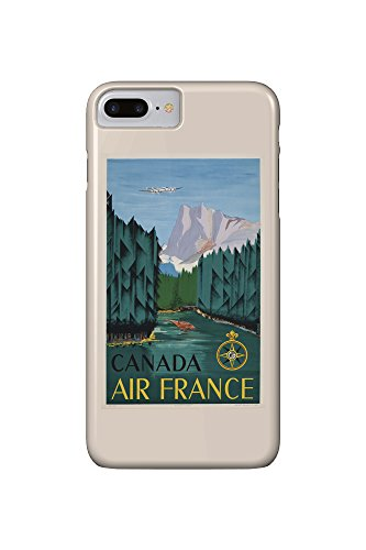 air-france-canada-artist-dore-france-c-1951-vintage-poster-iphone-7-plus-cell-phone-case-slim-barely