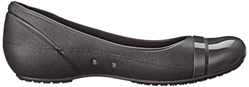 Crocs Cap Toe Flat Damen Ballerinas Black/Graphite