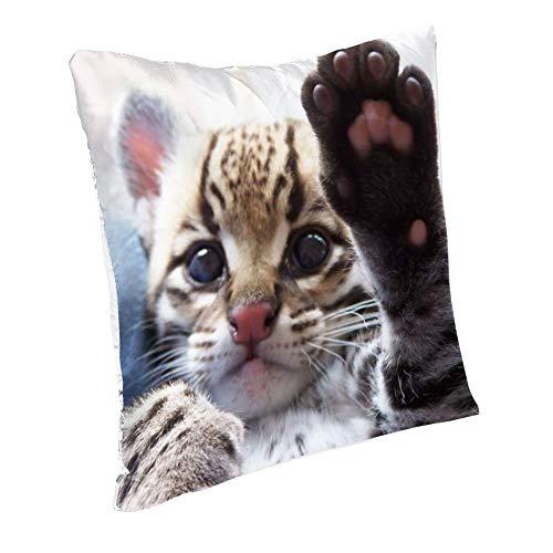 Amdg Kissenbezug Cheetah (56) Seide Kissenbezug 45 x 45 cm mit Reißverschluss dekorative Kissenhülle Dekorative Kissenhülle Hypoallergen 45,7 x 45,7 cm