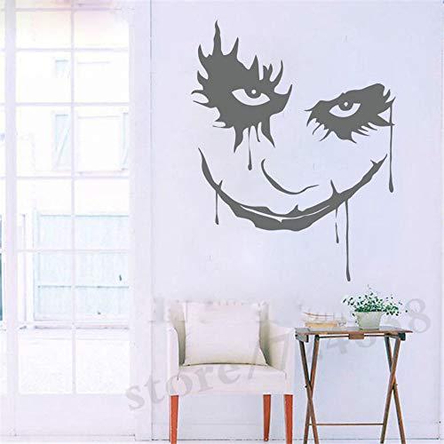 JXYY Scary Monster Gesicht Ghost Blood Horror Cartoon Clown Abnehmbare Vinyl Wandaufkleber Aufkleber Decor Schlafzimmer Sofa Hintergrund 58x75 cm