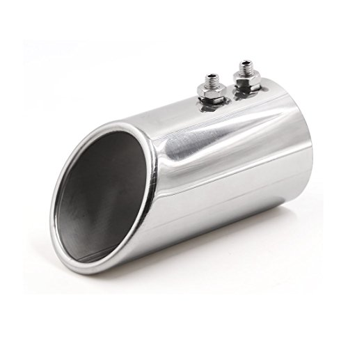 sourcingmap 75mm Inlet Dual Outlet Cut Exhaust Muffler Tip for Auto Car