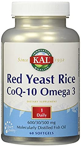Red Yeast Rice CoQ10 & Omega 3 - 60 - (Kal Riso)