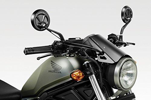 CMX500 Rebel 2017 - Windschutzscheibe 'Exential' (S-0799) - Aluminium Windschild Windabweiser Scheibe - Hardware-Bolzen Enthalten - Motorradzubehör De Pretto Moto (DPM) - 100% Made in Italy