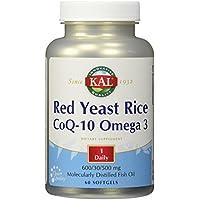 Kal - Riso rosso CoQ-10 Omega // 3 600mg30500 del lievito - (Kal Riso)