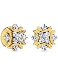 PC Jeweller The Zehiya 18KT Yellow Gold & Diamond Earring