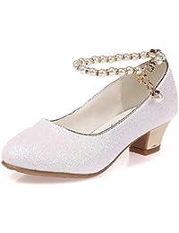 e3888d470 Zapatos de tacón bajo para niños Zapatos de Fiesta para niñas Zapatos de  Boda con Cuentas