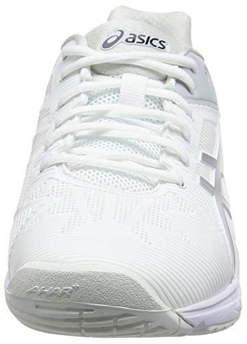 Asics Gel-Solution Speed 3, Chaussures de Tennis Homme, Bleu Blanc Cassé (White/silver)