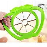 TAOtTAO Apple Slicer Kitchen Apple Slicer Cutter Pear Fruit Divider Tool Comfort Handle Peeler (Grün)