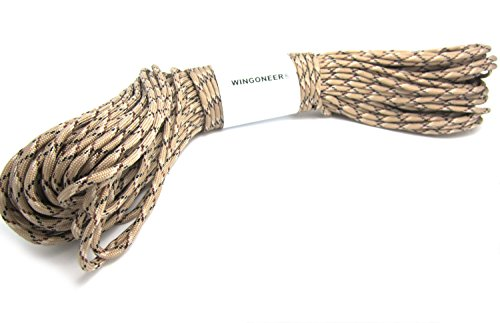 WINGONEER® el 100ft cuerda de la supervivencia del paracaídas de Paracord de 550 cuerdas - desierto camo
