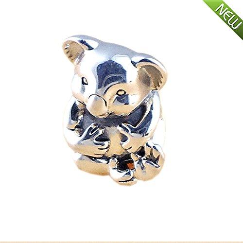 PANDOCCI 2016 La manera DIY del otoño rebordea la plata esterlina auténtica 925 Los ajustes encantadores de la koala para las pulseras de Pandora que hacen la joyería