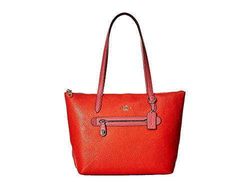Coach , Damen Schultertasche Light Gold/Deep Coral