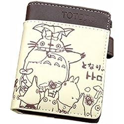 new Cuero Piel Cartera Multi-bolsillos Cartera hombre Purse Gato Gatitos Totoro rare