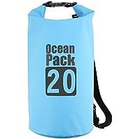 Leggera impermeabile Dry Bag rotolo Top Sacco Impermeabile Borsa da Marui per viaggiare, Rafting, Barca, kayak, canoa, escursionismo, pesca, nuoto e altri sport acquatici, Blue, 20 l