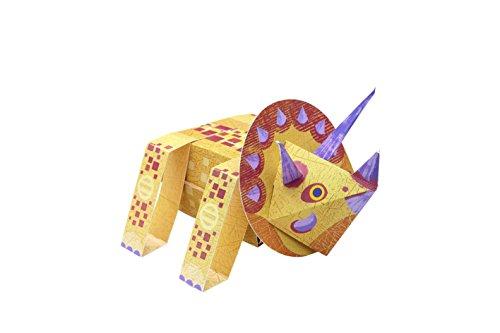 Paper Toys: Dinosaurier (Heraustrennen - Basteln - Spielen): Mit 10 beweglichen Dinosaurier-Modellen - 4