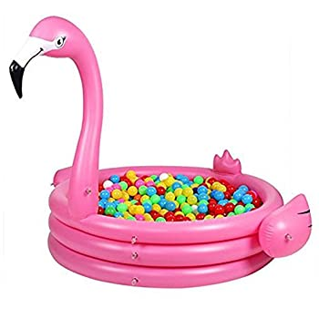 Ynredee Giant Swan Flamingo Inflatable Pool,children's Swimming Pool Inflating Baby Play Center (Flamingo) 1