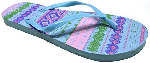 Octave , Tongs pour femme Aztec Design - Light Blue