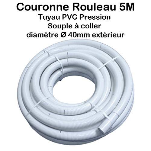 Couronne Rouleau 5M Tuyau PVC Pression Souple à coller Ø 40mm diamètre/Bassins et Piscines