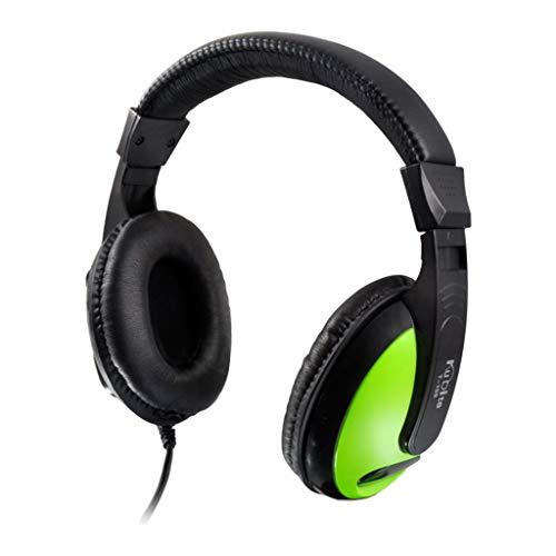 bescita PC Headset,Klinke Headset, USB Headset & 3.5mm Chat Headset, Stereo Sound mit Mikrofon für Skype Anrufe Teamspeak Mac PC Smartphone Tablet TV für iPhone, Huawei und Samsung (Grün) Skype Stereo