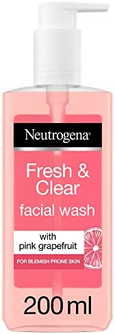 Neutrogena Facial Wash, Fresh & Clear, with Pink Grapefruit for blemish prone skin, 2