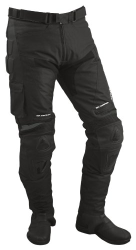 Roleff Pantalónes para Motorista de Tela/Malla y Cuero Racewear, Negro, L