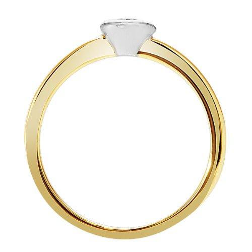 Diamond Line Damen – Ring 585er Gold 1 Diamant, gelbgold - 3