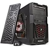 Zoostorm Tempest Gaming and Media Desktop PC with Red LEDs, 7270-5169 (AMD A10-7700K Processor, 8GB RAM, 1TB HDD, NVIDIA GeForce GTX 750 Ti Graphics, DVD/RW, Windows 10)