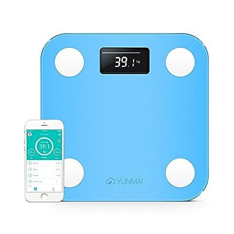 YUNMAI Mini Pèse-personne connecté d'Analyse Corporelle avec Bluetooth, Balance intelligente avec APP iOS et Android
