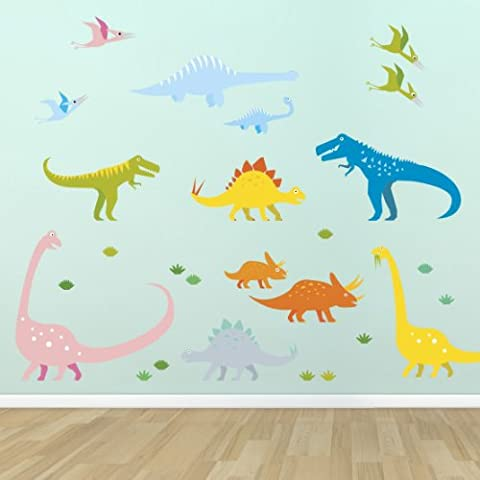 Supertogether Dinosaurs Childrens Bedroom Wall Stickers - Kids Playroom Nursery Decals